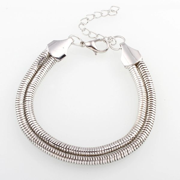 Stainless steel double chain bracelet