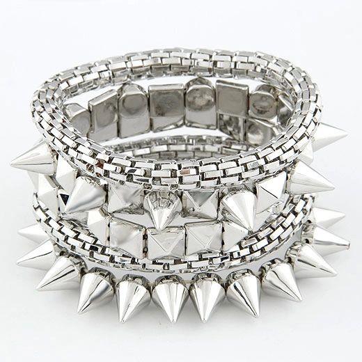 Alloy rocker bracelet set