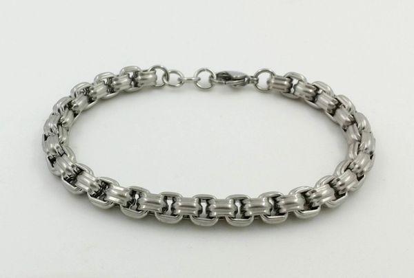 Stainless steel matte finish chain bracelet