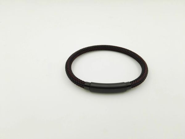 Stainless steel black wire bracelet