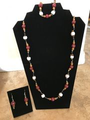 """Maroon and Speckled White Set - 30"""""""