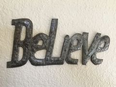 Hammered Metal Word Art - Believe
