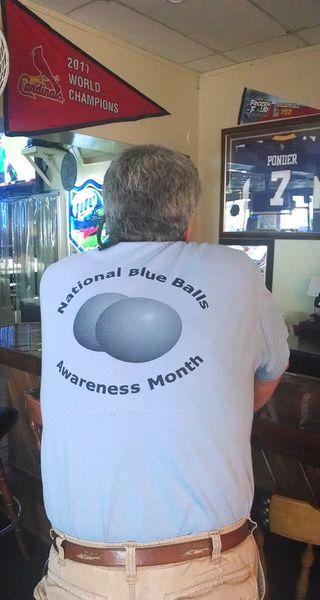National Blue Balls Awareness Month Men Womens Social Interaction T Shirt