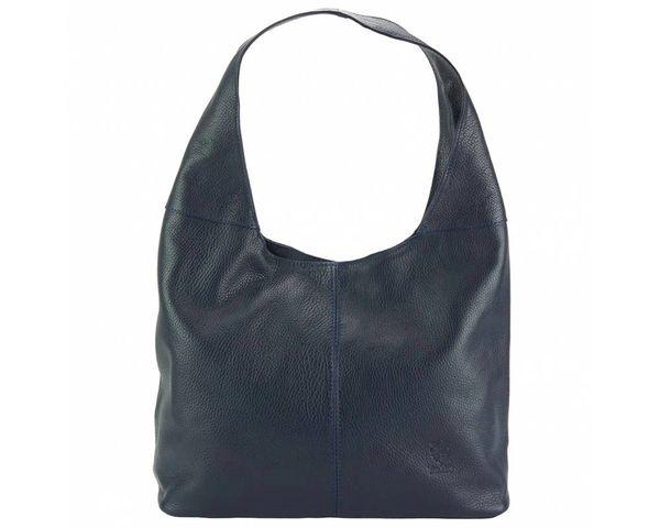 Soray Blue Genuine Leather Large Shoulder Bag
