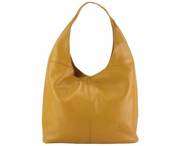 Soray Cognac Genuine Leather Large Shoulder Bag