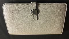 Light Grey Designer Inspired Clutch Purse