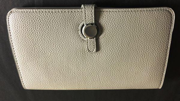 Light Grey Designer Inspired Clutch Purse