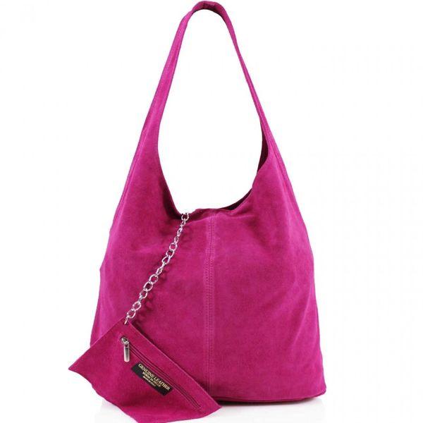 Fuchsia Suede Shoulder Bag