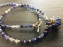 Lapis Lazuli Necklace Angel Bell - Creativity