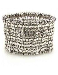Ukwenza Elasticated Metal Beaded Cuff
