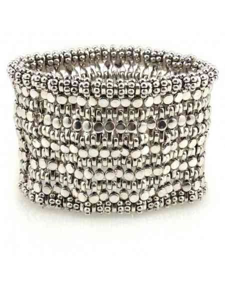 Ukwenza Elasticated Metal Beaded Cuff