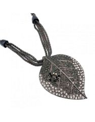 Marcasite Style Leaf Necklace