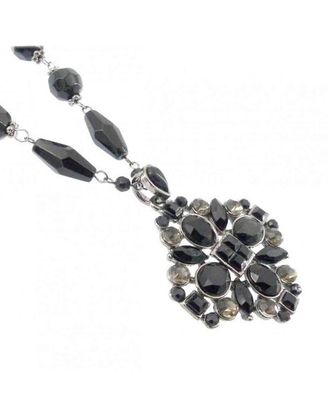 Black Diamante Gothic Style Necklace
