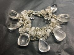 Crystal Quartz Statement Bracelet