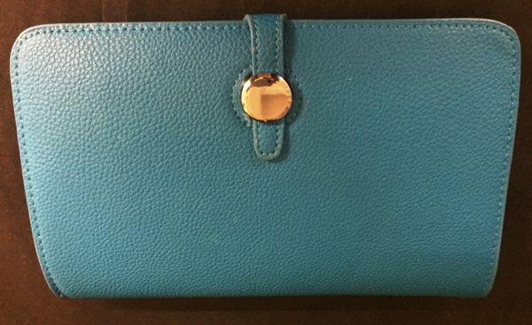 Turquoise Designer Inspired Clutch Purse