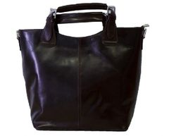 Marissa Black Leather Maxi Bag