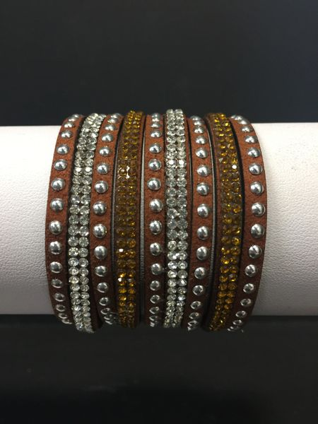 Embellished Brown Cuff