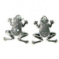 Frog Crystal Cubic Zirconia Stud Earring