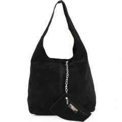 Black Suede Shoulder Bag