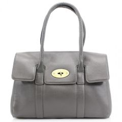 Grey Leather Handbag