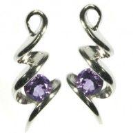 Amethyst Squibble Stud Earrings