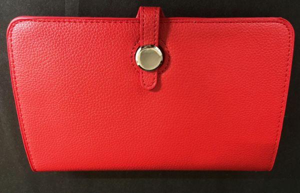 Red Designer Inspired Clutch Purse