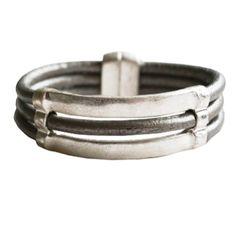 Silver Magnetic Bar Bracelet