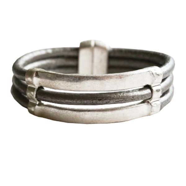 Silver Magnetic Bar Bracelet