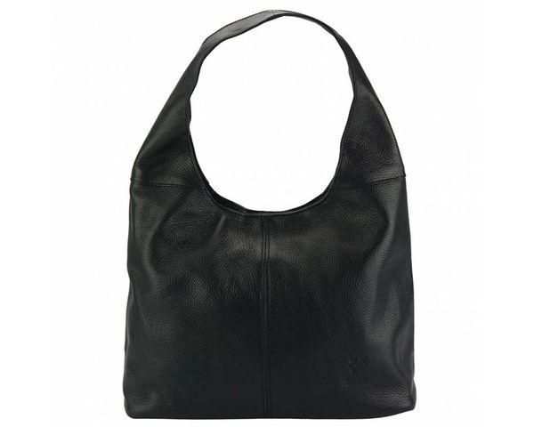 Soray Black Genuine Leather Large Shoulder Bag