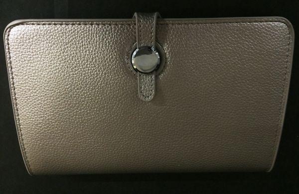Pewter Grey Designer Inspired Clutch Purse