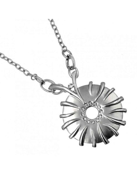Diamante Disc Necklace