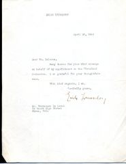 ERICH LEINSDORF SIGNED LETTER OF AUSTRIAN-BORN AMERICAN CONDUCTOR