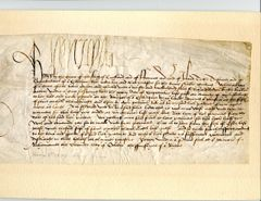 KING HENRY VIII AUTOGRAPHED HISTORICAL DOCUMENT, 2 OCTOBER 1509