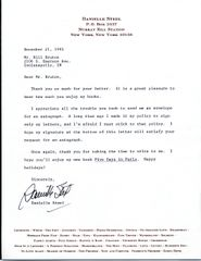 DANIELLE STEEL TYPED LETTER SIGNED OF AMERICAN BESTSELLING AUTHOR