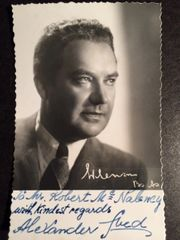 ALEXANDER SVED SIGNED PHOTO OF HUNGARIAN OPERATIC BARITONE