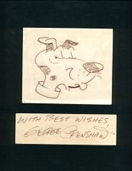 GEORGE CRENSHAW SIGNED AND INSCRIBED ORIGINAL 7 X 8 BELVEDERE DRAWING