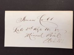 AMASA COBB SIGNED UNION GENERAL U.S. CIVIL WAR, MAYOR LINCOLN, NB, U.S. CONGRESSMAN