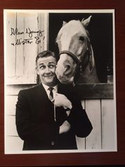 ALAN YOUNG MISTER ED SIGNED PHOTO LARGE SIZE 11 X 14