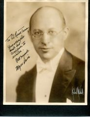 MEYER DAVIS SIGNED AND INSCRIBED VINTAGE PHOTO OF SOCIETY MUSICAL BOOKING AGENT TO AVIATION PIONEER ROSCOE TURNER