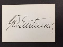 GEORGE EASTMAN SIGNED CARD BY INVENTOR AND MANUFACTURER OF KODAK BOX & BROWNIE CAMERAS