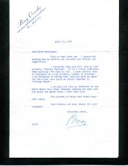 BING CROSBY TYPED LETTER SIGNED WITH EXCELLENT HOLLYWOOD CONTENT