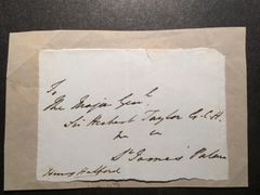QUEEN VICTORIA COURT PHYSICIAN'S SIGNATURE - SIR HENRY HALFORD