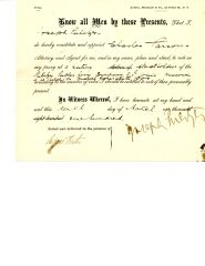 JOSEPH PULITZER DOCUMENT SIGNED APPOINTING PROXY FOR PULITZER PUBLISHING STOCK HOLDERS VOTE