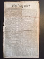War of 1812 negotiations between Great Britian and the United States, on long front page article