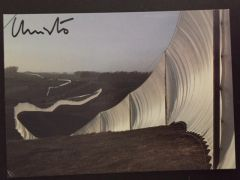 CHRISTO SIGNED OFFSET LITHO AND JEANNE-CLAUDE NOTE SIGNED RUNNING FENCE