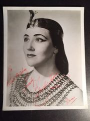 BLANCHE THEBOM SIGNED PHOTO IN COSTUME AS AMNERIS OF OPERATIC SOPRANO, VOICE TEACHER, OPERA DIRECTOR