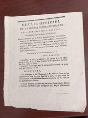 NAPOLEON VINTAGE BULLETIN ANNOUNCES INVASION BY PRUSSIA 1806