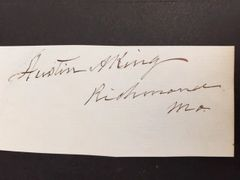 AUSTIN A. KING SIGNED JUDGE IN TRIAL OF JOSEPH SMITH DURING 1838 MORMON WAR LATTER DAY SAINT MOVEMENT