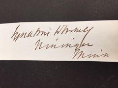 IGNATIUS L. DONNELLY SIGNED BY FOUNDER UTOPIAN NININGER CITY, CIVIL WAR U.S. CONGRESSMAN, SENATOR, POPULIST AUTHOR