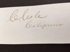 CORNELIUS COLE SIGNED BY OWNER OF ALL THE LAND IN HOLLYWOOD, CALIFORNIA 1880 & U.S. CIVIL WAR CONGRESSMAN